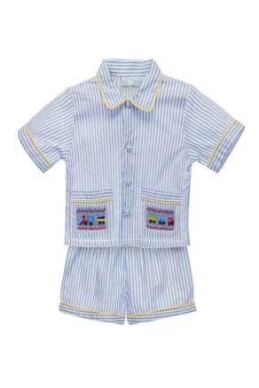 Short boys smocked pyjamas